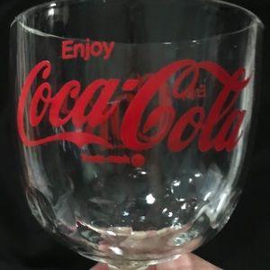 Vintage Coca-Cola goblet.
